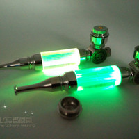 New 1pcs  MINI Pipe Metal Smoking Pipe With LED Flash Light