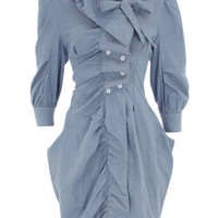 Blue pocket shirt dress - Party Dresses - Dresses - Dorothy Perkins