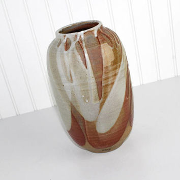 Fine Art Handmade Glazed Pottery Vase Hand Thrown Southwest Decor Sedona Large Pottery Vase