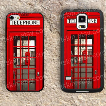 Telephone booth pay phone red  iphone 4 4s iphone  5 5s iphone 5c case samsung galaxy s3 s4 case s5 galaxy note2 note3 case cover skin 159