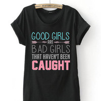 Limited Edition Cheap shirt 5 Seconds Of Summer - Good Girls Are Bad Girls  T Shirts Mens and t shirt girl Size Available in PateniElah