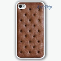 iPhone 4 Case, iphone 4s case -- Ice Cream Sandwich iPhone Case, graphic iphone 4 case