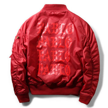 Yeezy yeezus Bomber JACKET men pablo printing jacket men hip hop skateboard jacket windbreaker jaqueta masculina kanye west