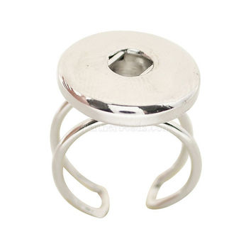 Hot sale high quality fashion DIY metal rings fit ginger 18 20 mm snap button jewelry KB0548