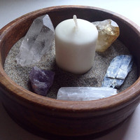 Crystal Display Mini Quartz Garden Quartz Crystal Bowl Crystal Healing Bohemian Gift Gypsy Gift Hippie Accessories