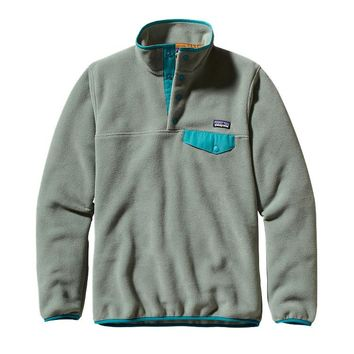 Patagonia Women's Synchilla® Recycled Fleece Lightweight Snap-T® Pullover | Verdigris