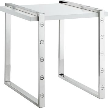 Amore Chrome End Table