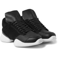 Rick Owens - + adidas Suede and Leather Sneakers | MR PORTER