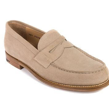 Church's Beige Suede Bridget Penny Loafers