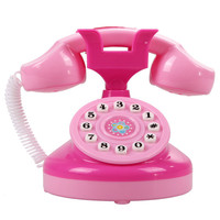 Pink Phone Toy Children Educational Emulational Plastic Phone Pretend Play