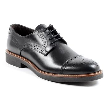 Andrew Charles Lou Mens Black Brogue Shoe
