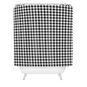 Caroline Okun Ebony Gingham Shower Curtain