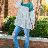 Fly Away Home Top, Teal