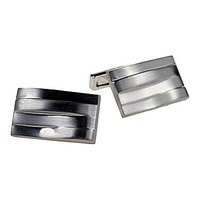 Kenneth Cole New York Layered Wave Cufflinks - Silver