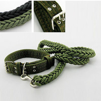Pet Dog Collar and Leads Nylon Strong Safety Chain Traction Rope Pets Dog Collar Medium Dog Large Dogs Pet supplies