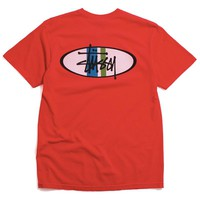 Two Bar Oval Pigment Dyed T-Shirt Red