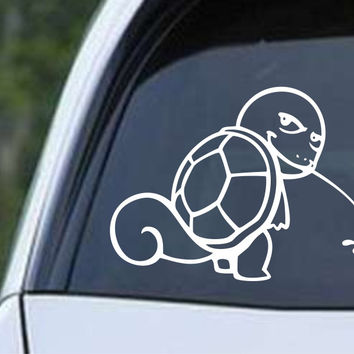 Pokemon Squirtle Calvin Die Cut Vinyl Decal Sticker