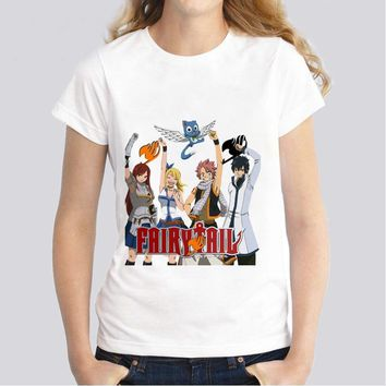 fairy, tail, New Women T-shirt kawaii girl clothing tumblr Casual Funny tShirt Female harajuku top WTs1057