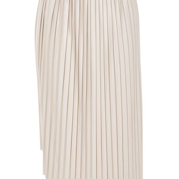 Asymmetric Pleated Midi Skirt | Topshop