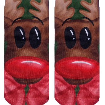 Rudolph Ankle Socks