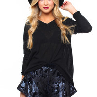 J.O.A. Shadow Play Sequin Shorts