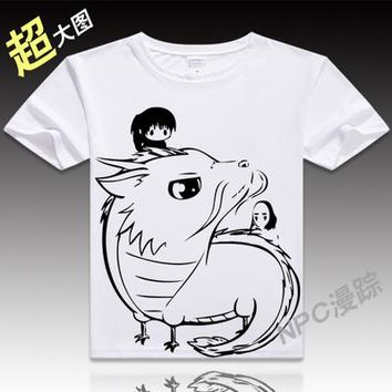 Anime Unisex Tops Tee Printed Spirited Away T Shirts MenTops For Short Sleeve Miyazaki Hayao t-shirt Japan Cartoon Shirt tees