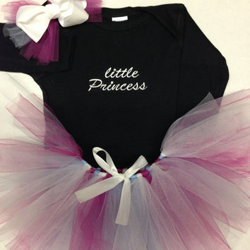 little Princess  Embroidered Onsie with a by CheeksLittleBoutique