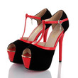 T Strappy Black Open Toe Pumps Utral High Heels Shoes