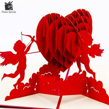 3D Pop Up Heart Blank Greeting Cards