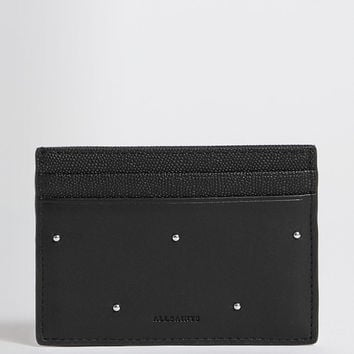 ALLSAINTS US: Womens Kathi Leather Card Case (black)