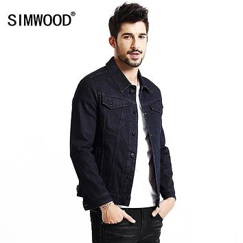 SIMWOOD jacket men 2017 New Autumn Winter denim jacket men fashion jeans jacket casual outerwear Coats Brand Clothing NJ6523
