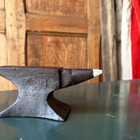 MINI Vintage Anvil, Jewelers Anvil, Antique Blacksmith Anvil, Industrial Decor, Office Decor