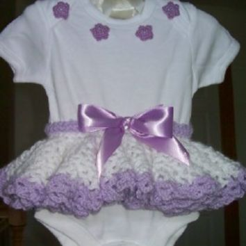 Crochet Pattern - Baby Tutu Skirt and Instructions for Onesuit