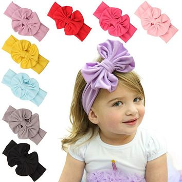 2018 different wear ways baby girl headband bow Big Bowknot Children Kids Head Wraps Accessories bandeau cheveux Christmas