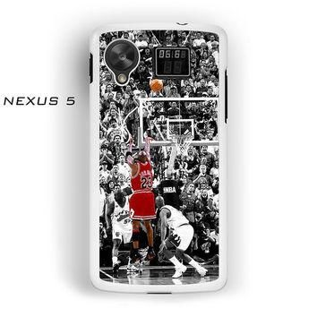 Michael Jordan Shot In NBA For Nexus 4/Nexus 5 Phone case ZG