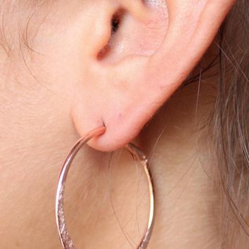 Small Flat Hoop Earring