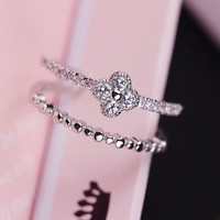 Jewelry Shiny Stylish New Arrival Gift Double-layered Ring [6586167303]