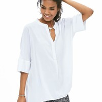 Banana Republic Womens Drapey Dolman Sleeve Blouse