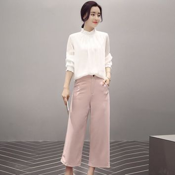 Korean Summer Slim Chiffon Casual Stylish Capri [9585013066]