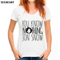 JON SNOW Game of Thrones T-Shirt You Know Nothing