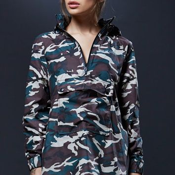 Sweat Crew Pocket Camo Windbreaker - Womens Jacket - Camo
