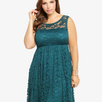 Lace Illusion Empire Dress