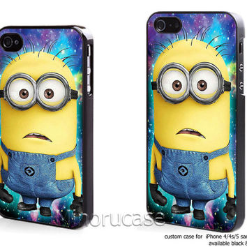 despicable minion in galaxy Custom case For iphone 4/4s,iphone 5,Samsung Galaxy S3,Samsung Galaxy S4 by minorucase on etsy