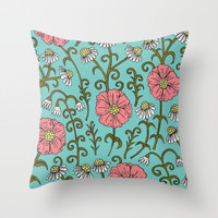 Flourish (version 2) Throw Pillow by PeriwinklePeacoat