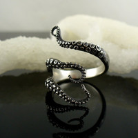 High quality  Fashion Jewelry Goth Titanium Octopus Ring