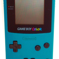 Game Boy Color System - Teal w/ New Screen Lens (Pre-owned)