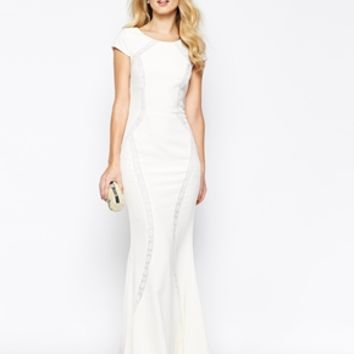 Jarlo Charlotte Maxi Dress With Lace Panels