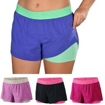 Women's Fashion  Running Yoga Sport Training Quick Dry Beach Shorts = 5698073345