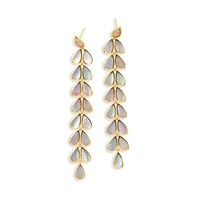 Polished Rock Candy 18K Gold Teardrop Linear Cascade Earrings