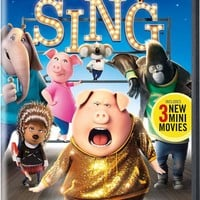 Sing Special Edition Disc Set DVD Incudes 3 New Mini Movies & Songs Limited Edition By LUD   Matthew McConaughey Reese Witherspoon Garth Jennings
